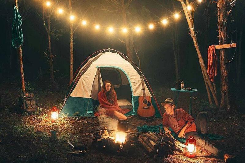 kinh nghiệm thuê lều cắm trại