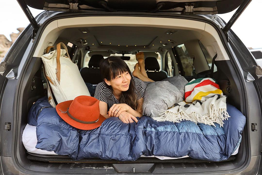 đi cắm trại bằng ô tô